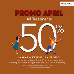 novi's promo 50% tindakan dokter selama bulan april 2020