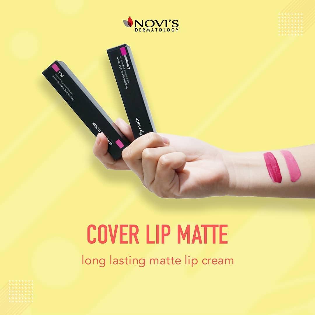 Cover Lip Matte NOVI'S Dermatology, tahan lama lisptik